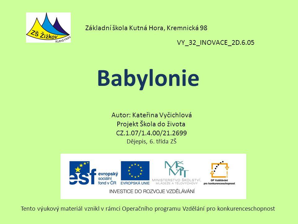 Babylonie Základní škola Kutná Hora, Kremnická 98