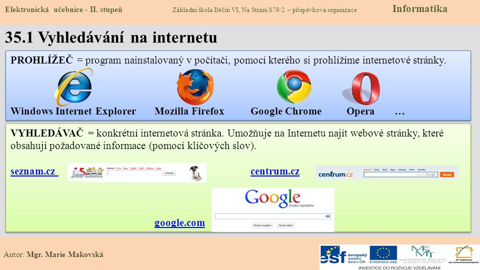35.1 Vyhledávání na internetu