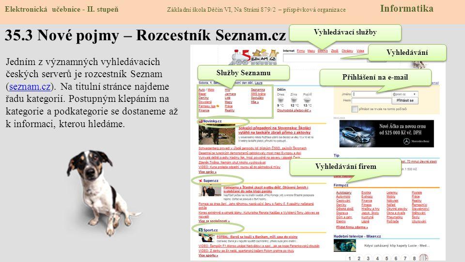 35.3 Nové pojmy – Rozcestník Seznam.cz