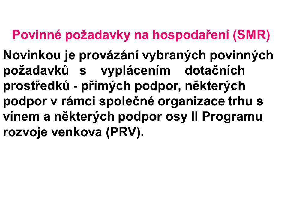 Povinné požadavky na hospodaření (SMR)