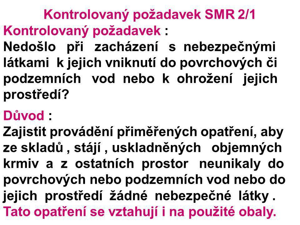 Kontrolovaný požadavek SMR 2/1