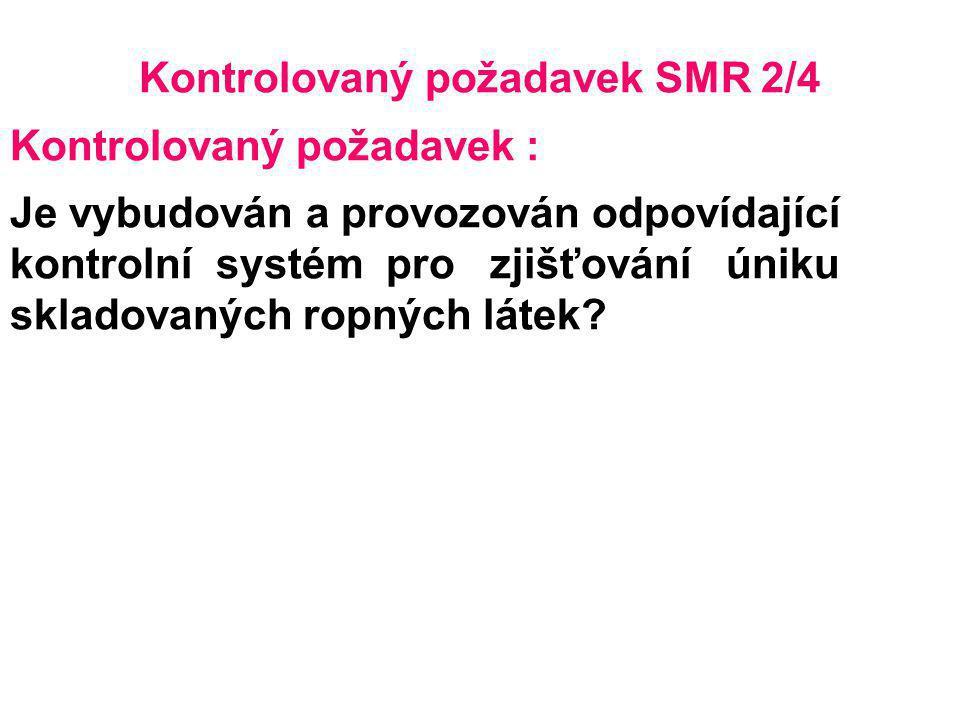 Kontrolovaný požadavek SMR 2/4