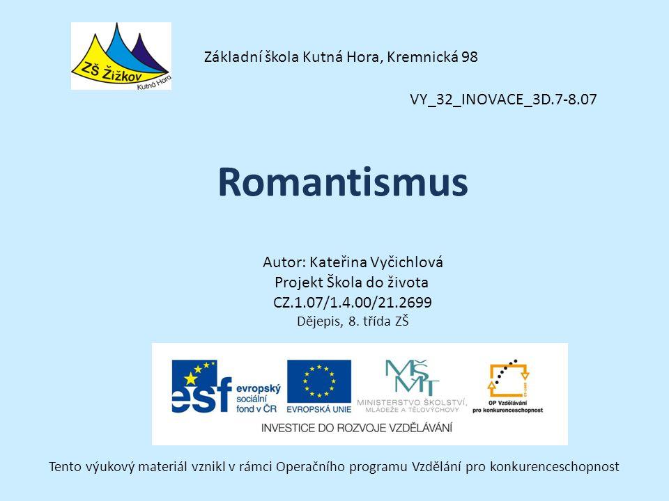 Romantismus Základní škola Kutná Hora, Kremnická 98