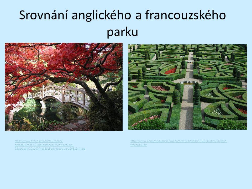 Srovnání anglického a francouzského parku