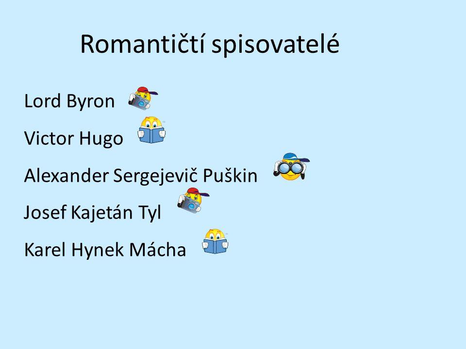 Romantičtí spisovatelé