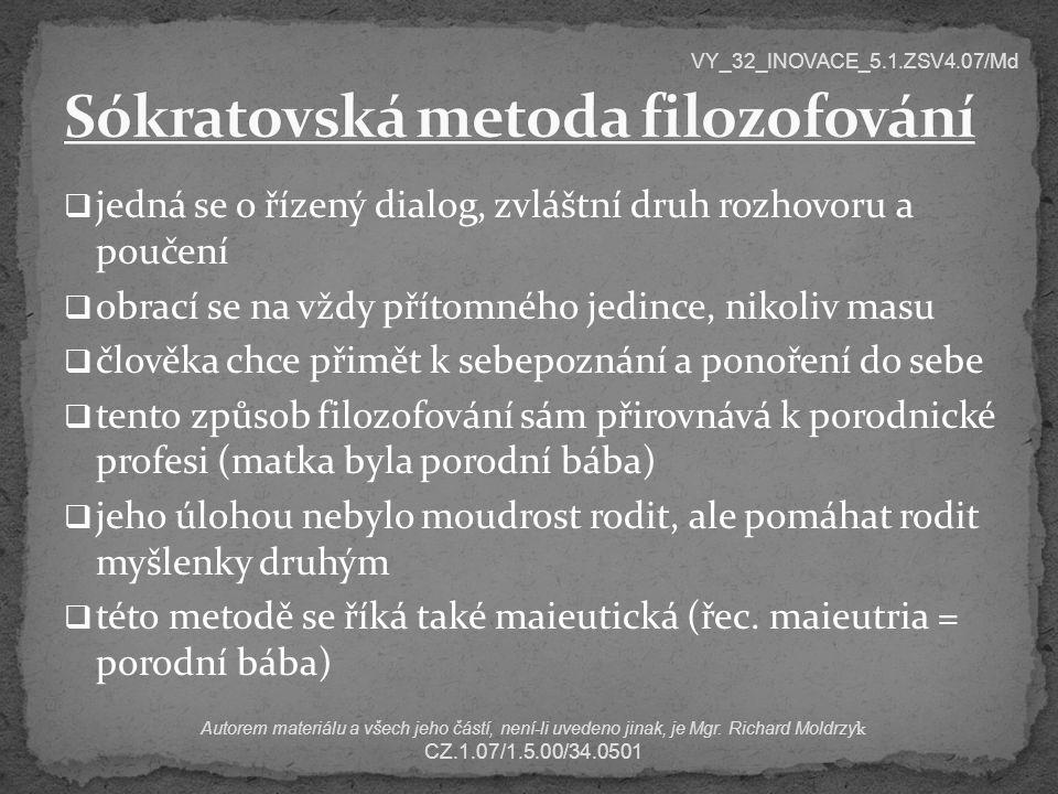 Sókratovská metoda filozofování
