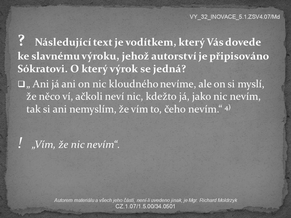 VY_32_INOVACE_5.1.ZSV4.07/Md