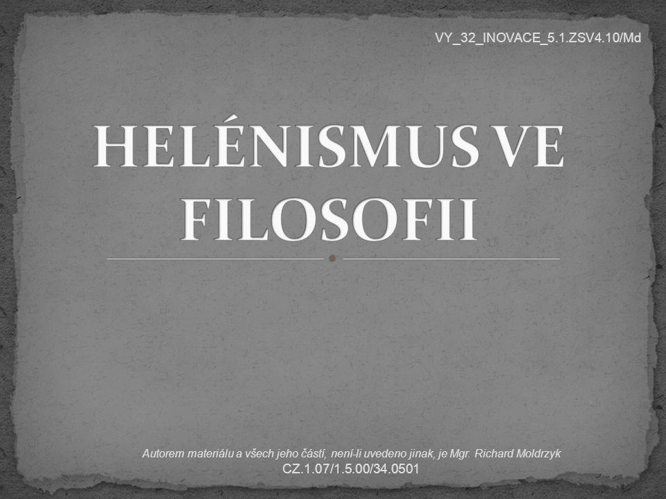 HELÉNISMUS VE FILOSOFII