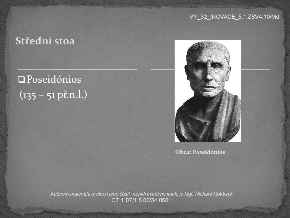 Střední stoa Poseidónios (135 – 51 př.n.l.)