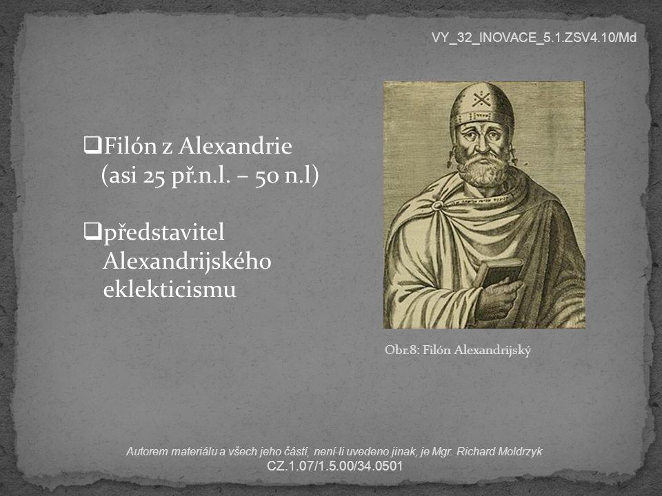 představitel Alexandrijského eklekticismu