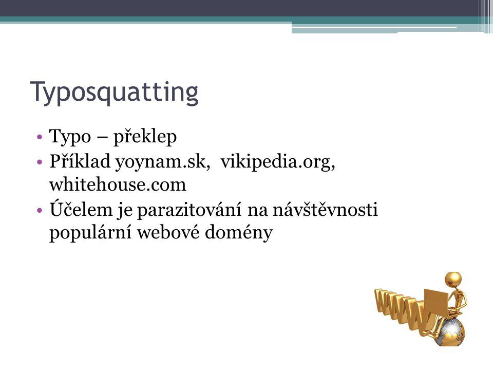 Typosquatting Typo – překlep