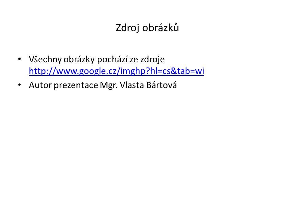 Zdroj obrázků Všechny obrázky pochází ze zdroje http://www.google.cz/imghp hl=cs&tab=wi.