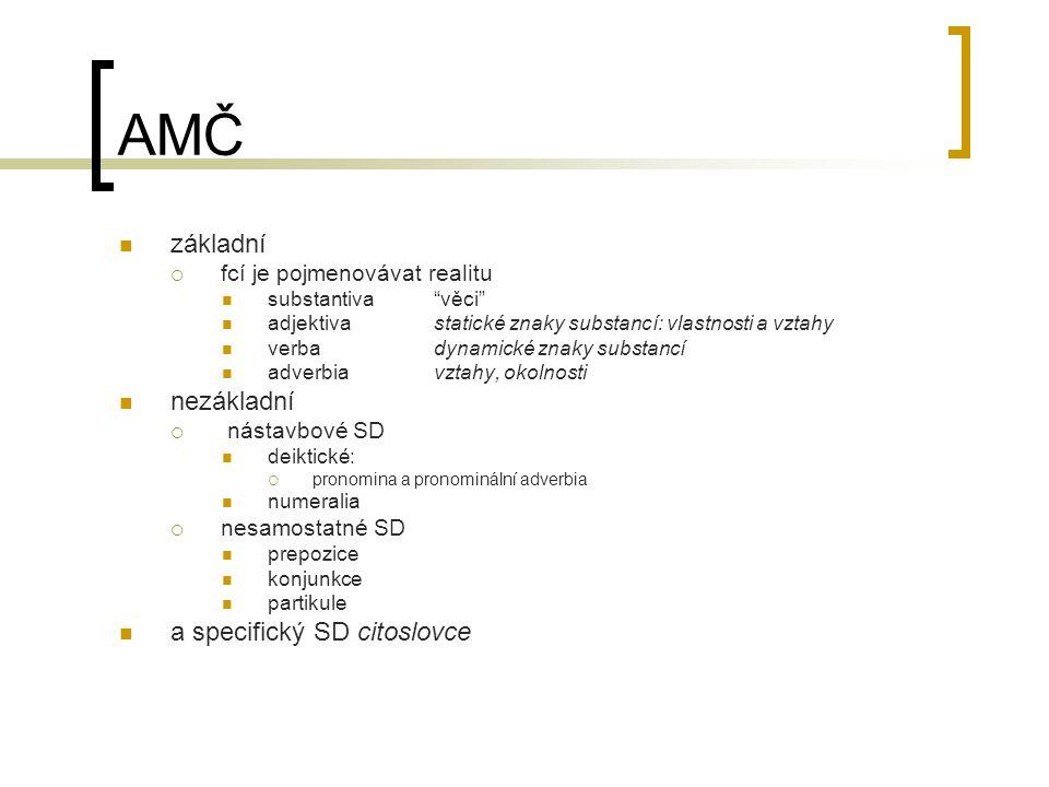 AMČ základní nezákladní a specifický SD citoslovce
