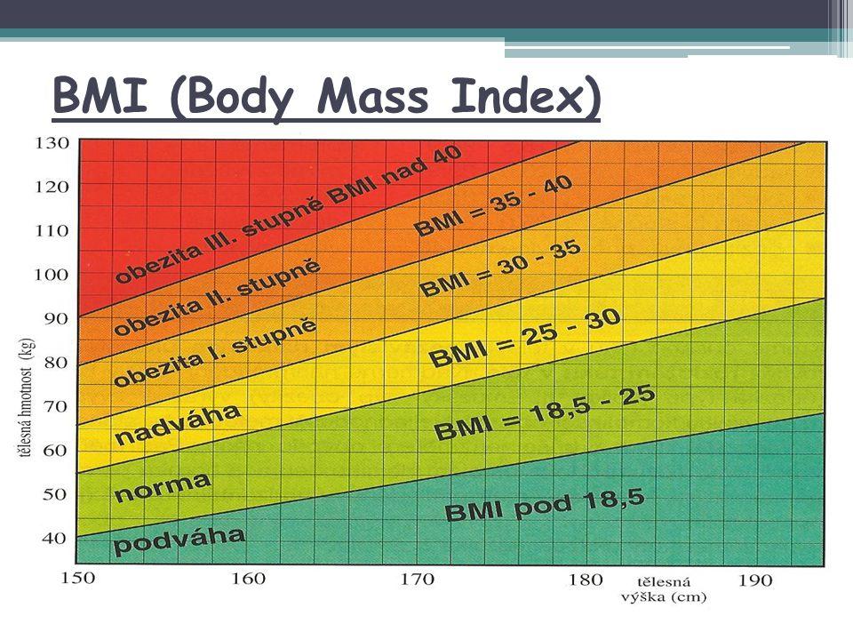 BMI (Body Mass Index) Obrázek převzat z letáku VZP Obezita.