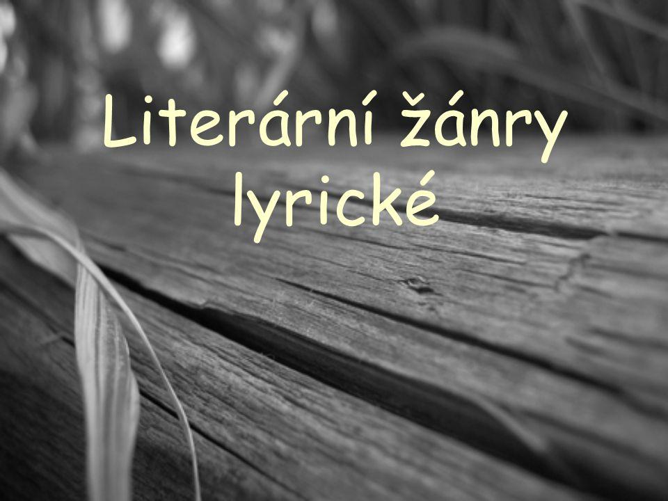 Literární žánry lyrické