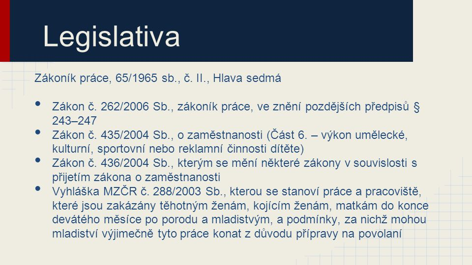 Legislativa Zákoník práce, 65/1965 sb., č. II., Hlava sedmá