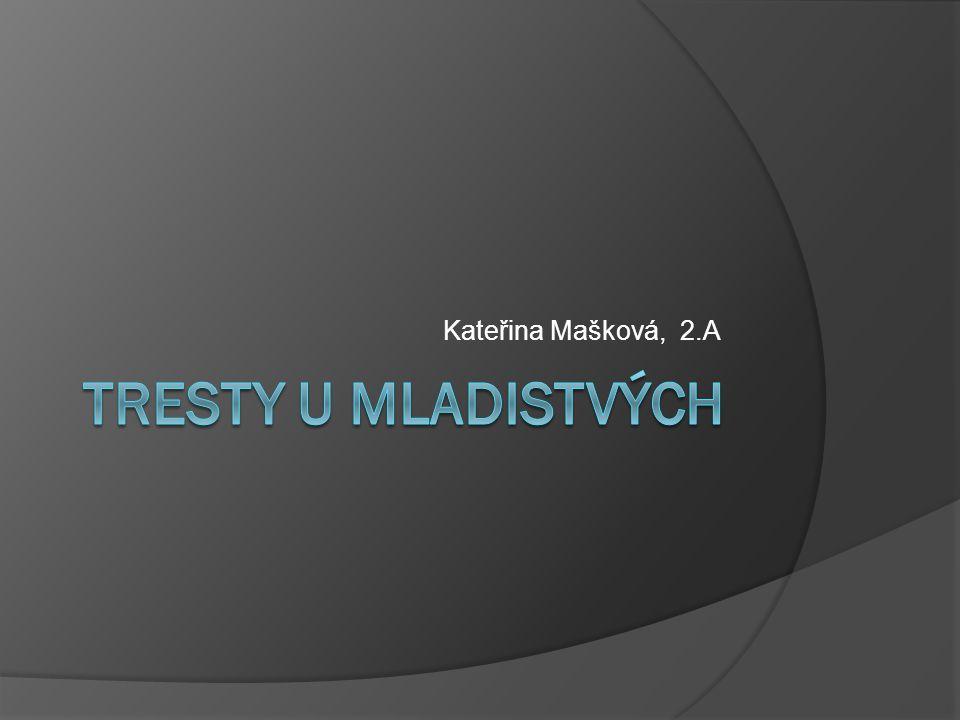Kateřina Mašková, 2.A Tresty u mladistvých