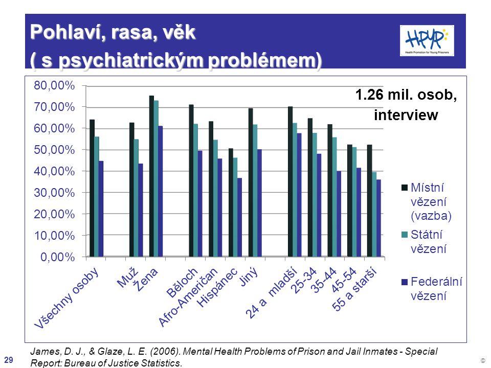 Pohlaví, rasa, věk ( s psychiatrickým problémem)