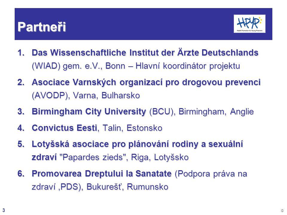 Partneři Das Wissenschaftliche Institut der Ärzte Deutschlands (WIAD) gem. e.V., Bonn – Hlavní koordinátor projektu.