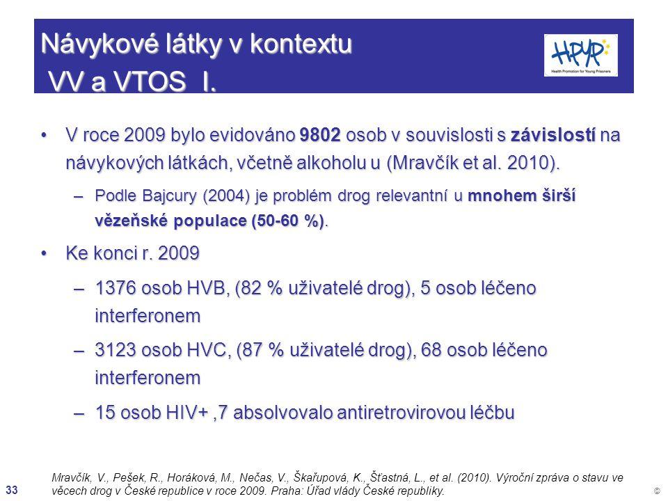Návykové látky v kontextu VV a VTOS I.
