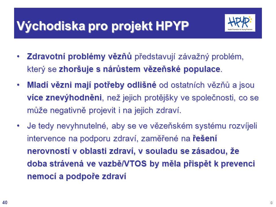 Východiska pro projekt HPYP