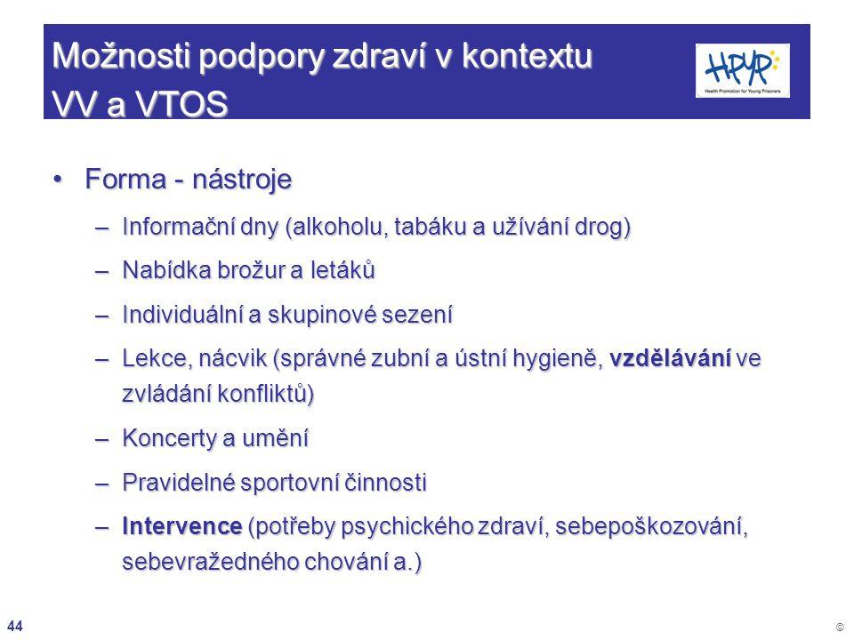 Možnosti podpory zdraví v kontextu VV a VTOS