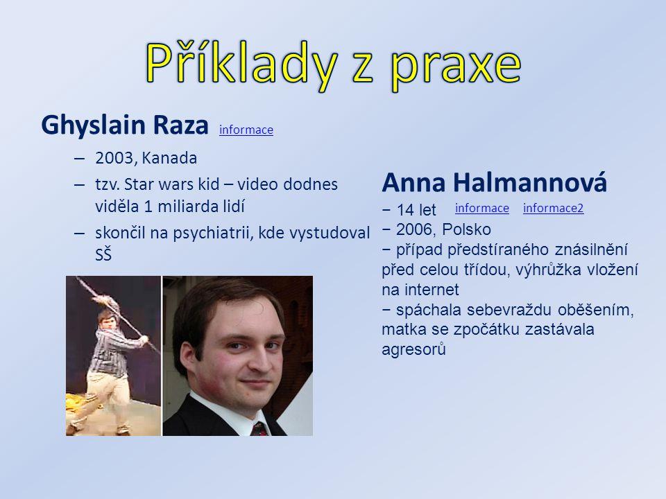 Příklady z praxe Ghyslain Raza Anna Halmannová 2003, Kanada