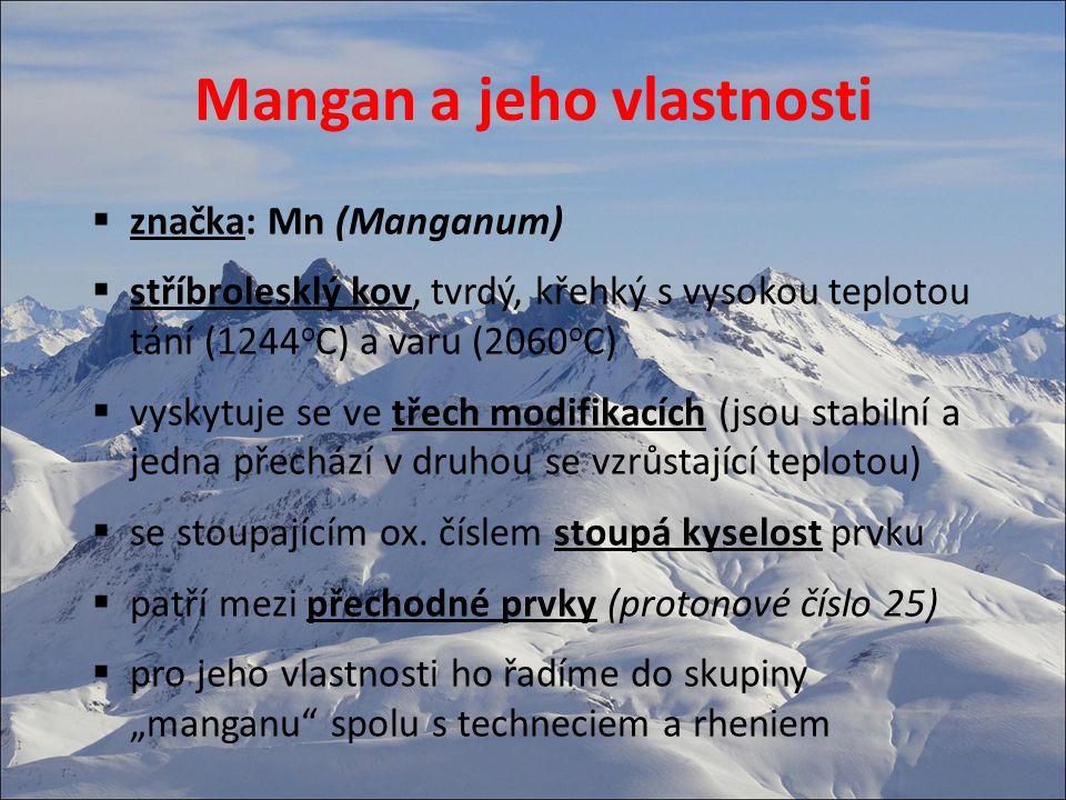 Mangan a jeho vlastnosti
