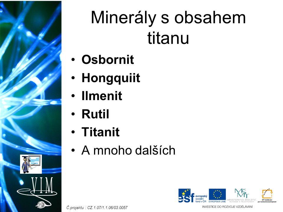 Minerály s obsahem titanu