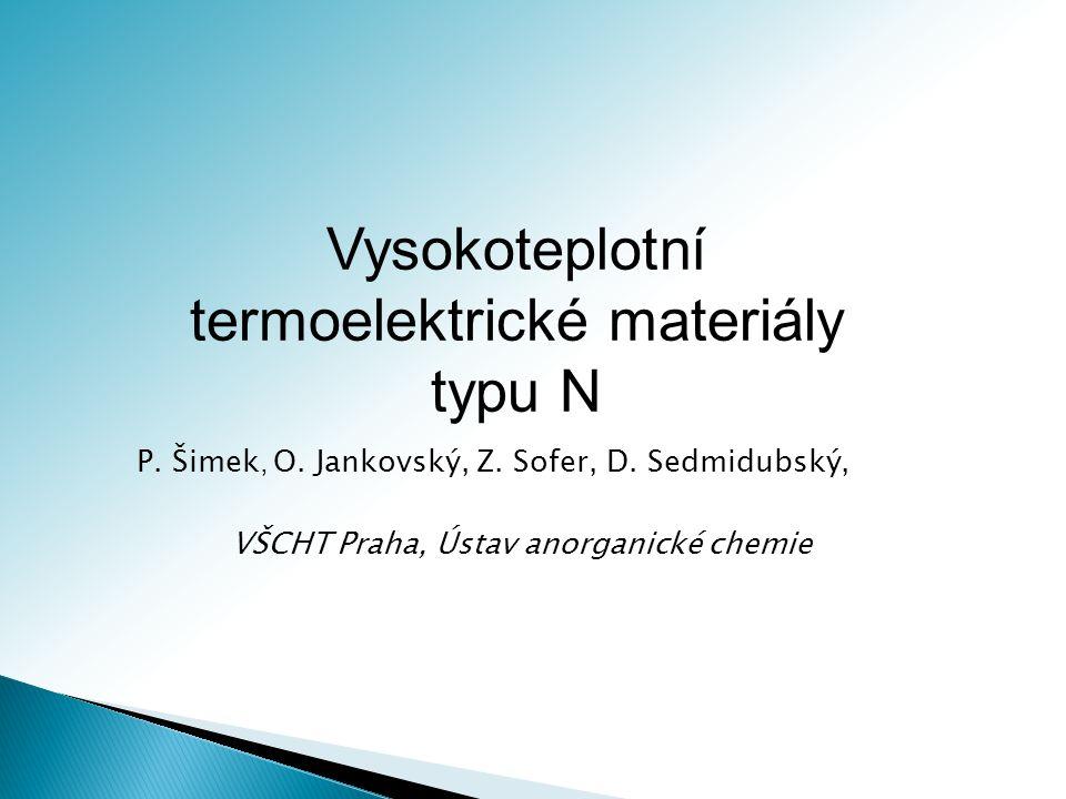 Vysokoteplotní termoelektrické materiály typu N