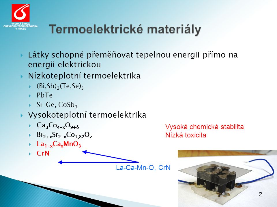 Termoelektrické materiály