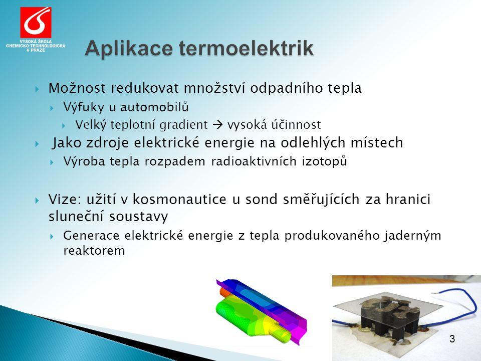 Aplikace termoelektrik