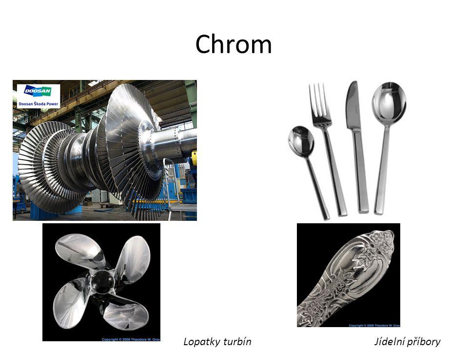 Chrom Lopatky turbín Jídelní příbory