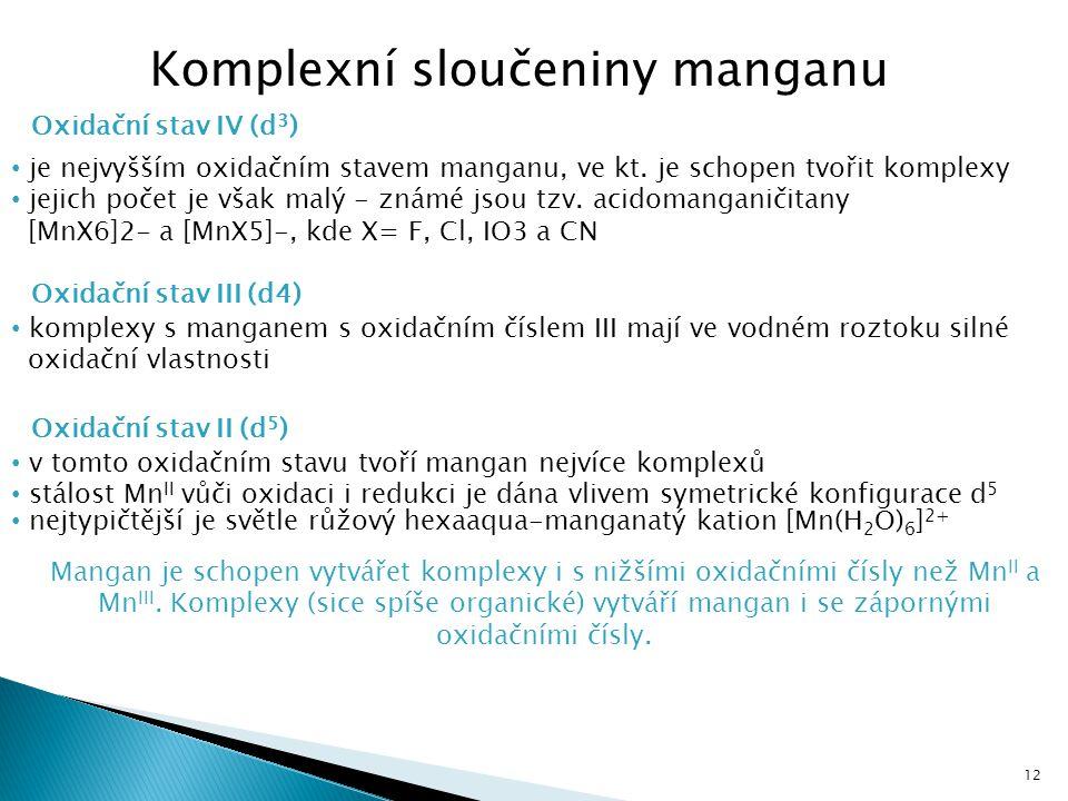 Komplexní sloučeniny manganu