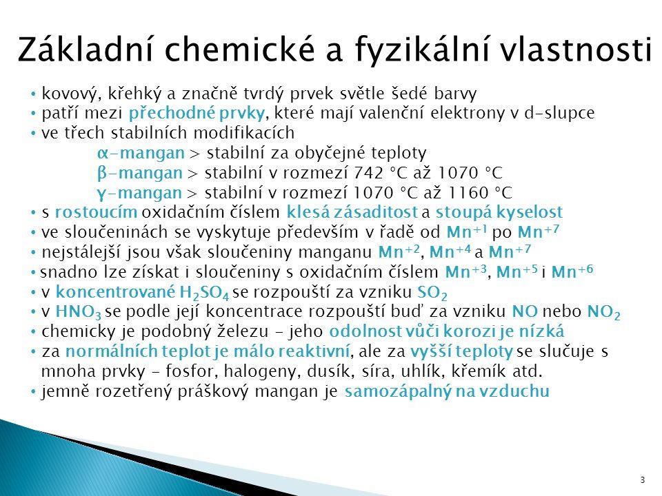 Základní chemické a fyzikální vlastnosti