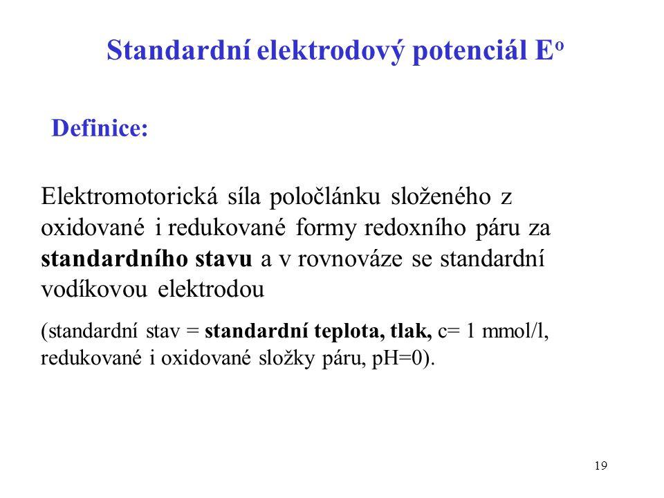Standardní elektrodový potenciál Eo