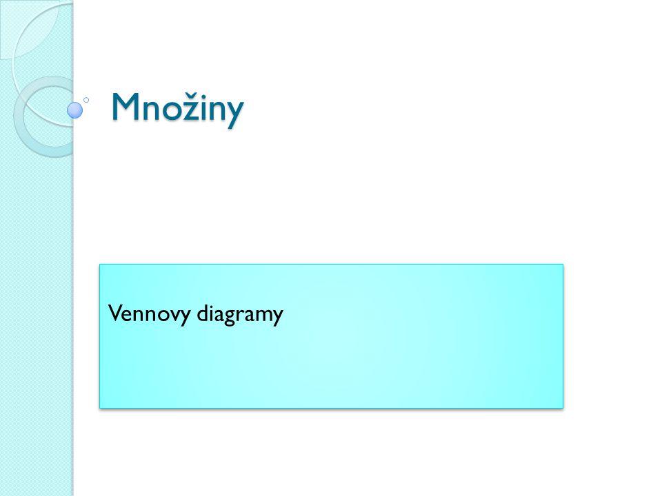 Množiny Vennovy diagramy