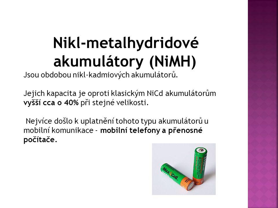 Nikl-metalhydridové akumulátory (NiMH)