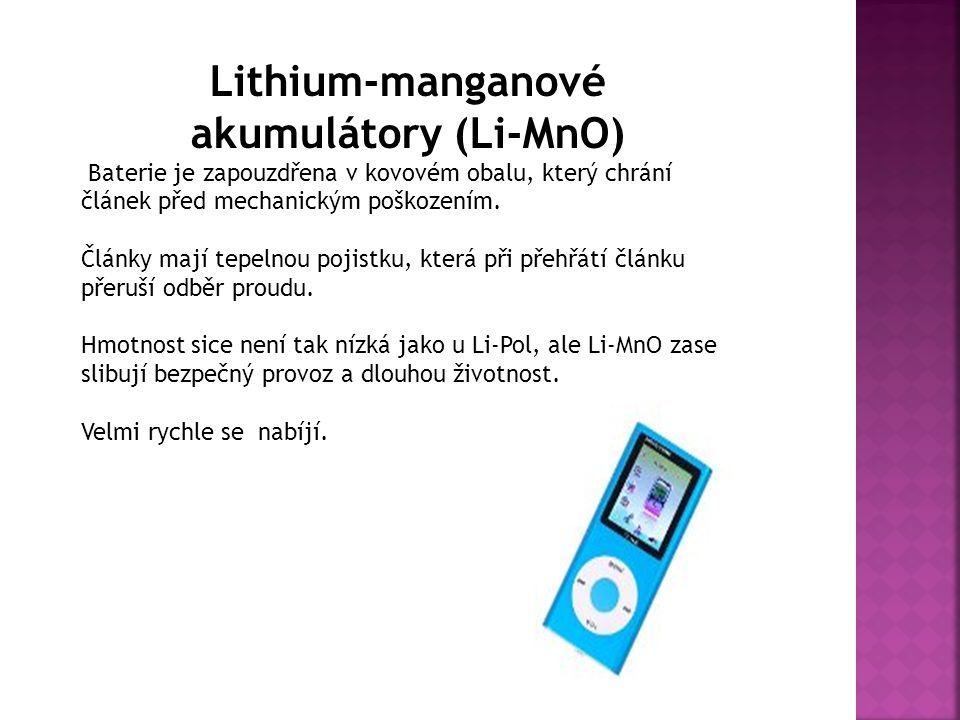 Lithium-manganové akumulátory (Li-MnO)