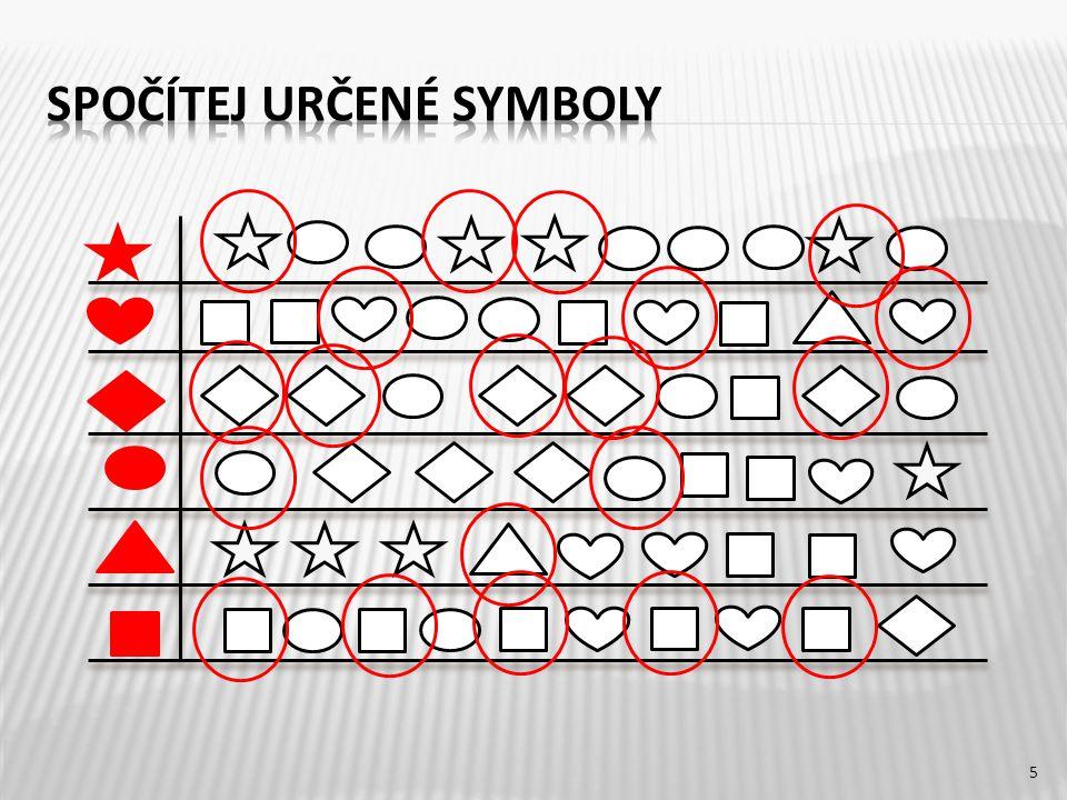 Spočítej určené symboly