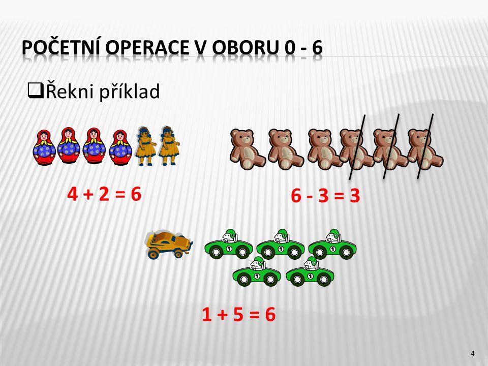 Početní operace v oboru 0 - 6