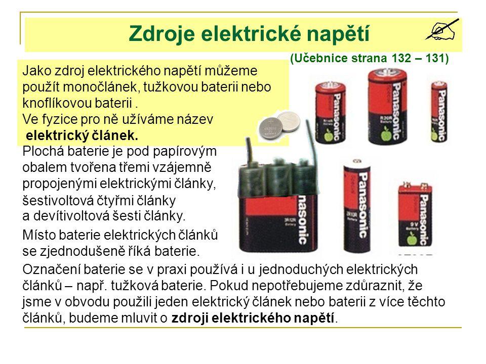 Zdroje elektrické napětí