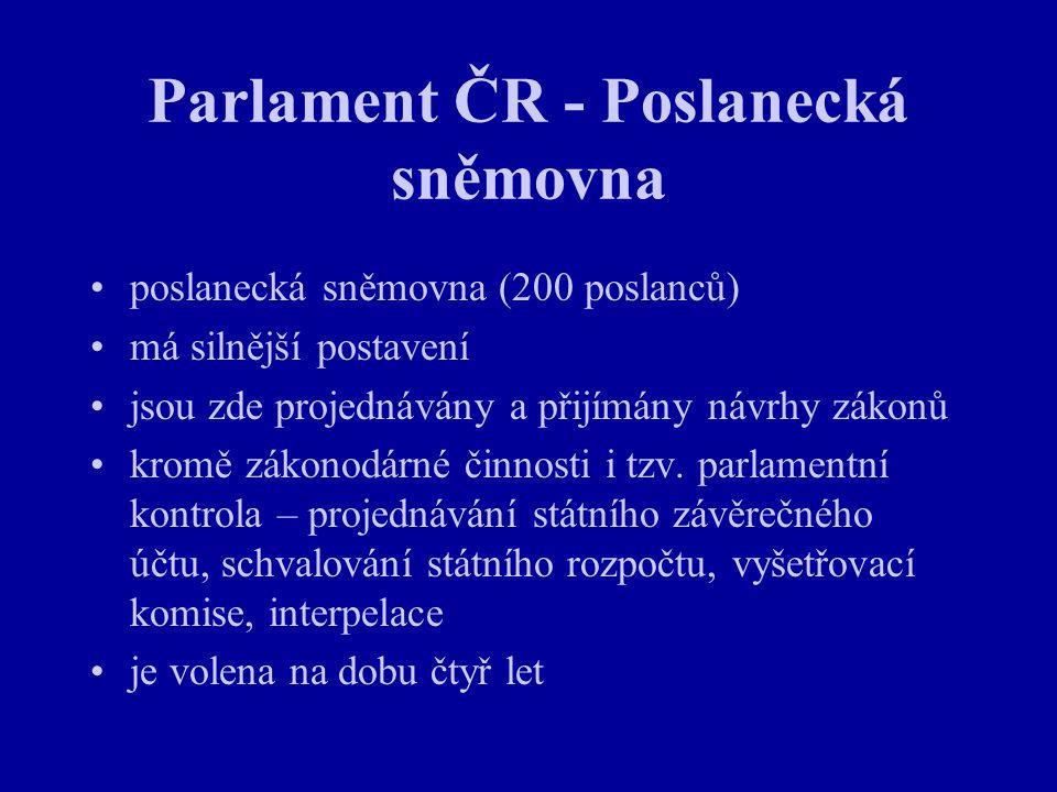 Parlament ČR - Poslanecká sněmovna