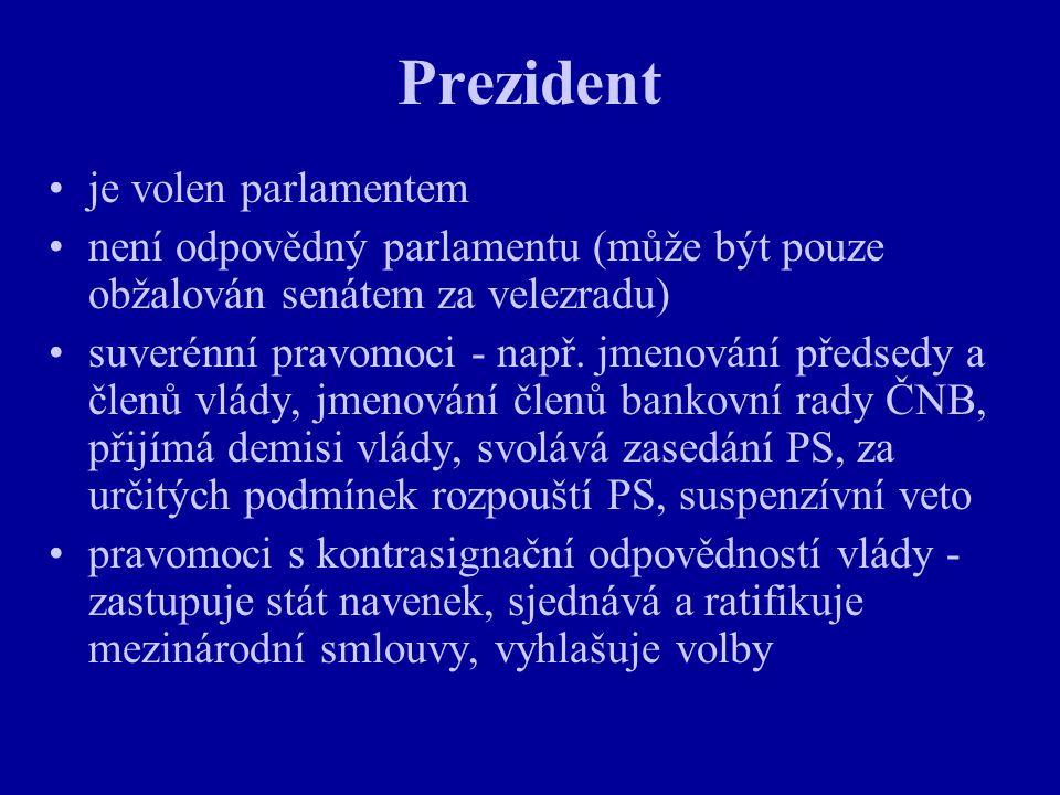 Prezident je volen parlamentem