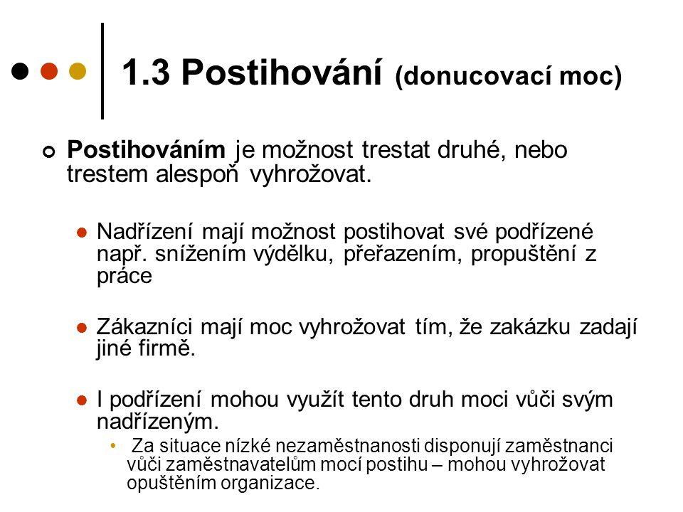 1.3 Postihování (donucovací moc)