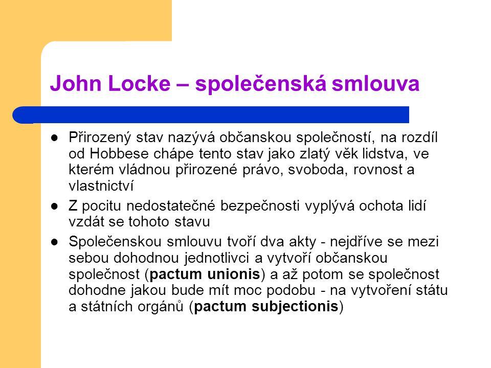 John Locke – společenská smlouva