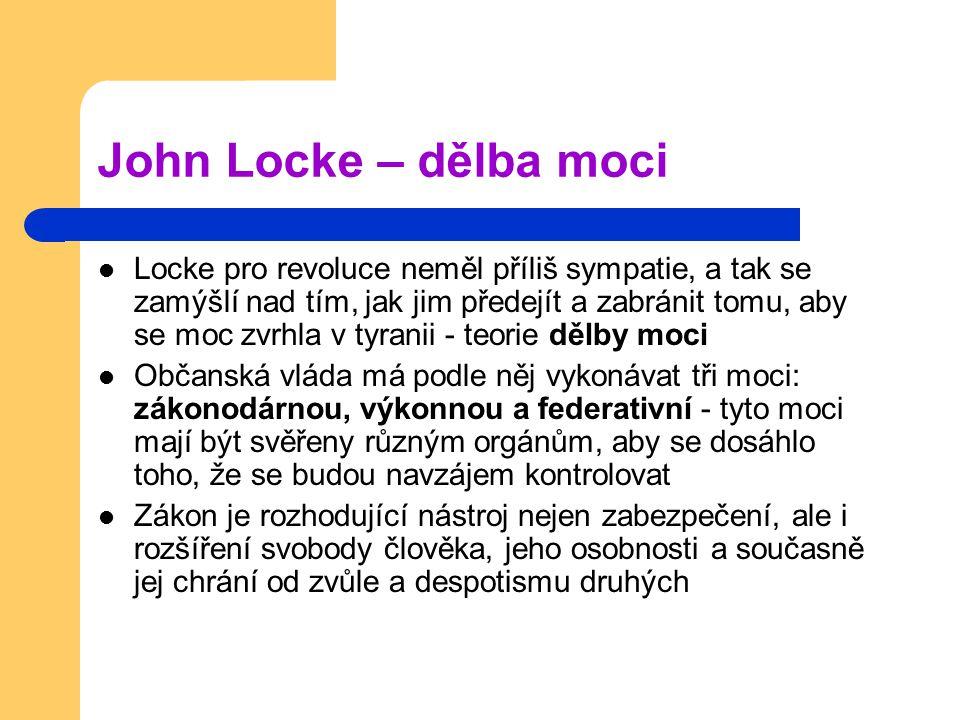 John Locke – dělba moci