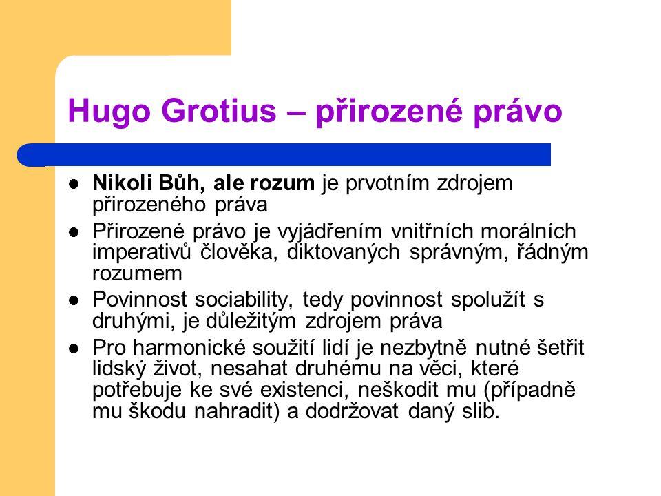 Hugo Grotius – přirozené právo