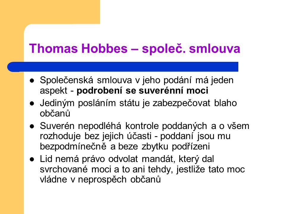 Thomas Hobbes – společ. smlouva