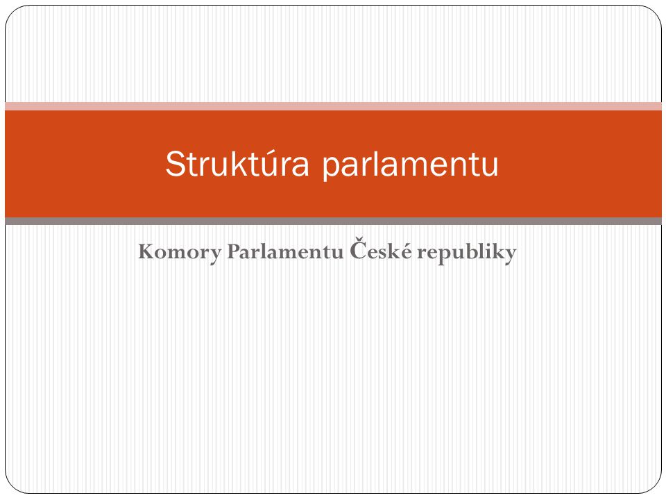 Komory Parlamentu České republiky